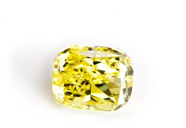 Gelber Diamant Vivid Yellow Diamant beispielhafte Ansicht