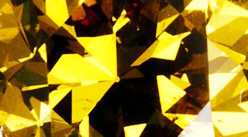 Gelber Diamant, beispielhafte Nahaufnahme