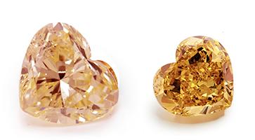 Orange Diamanten in Herzform, beispielhafte Ansicht
