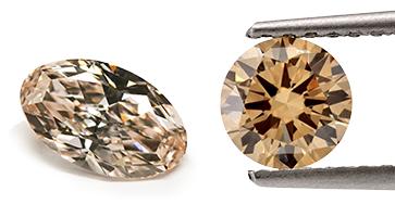Braune Diamanten in verschiedenen Formen, beispielhafte Ansicht