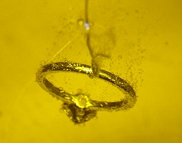 Schmuck Herstellung, Ring in der Galvanik