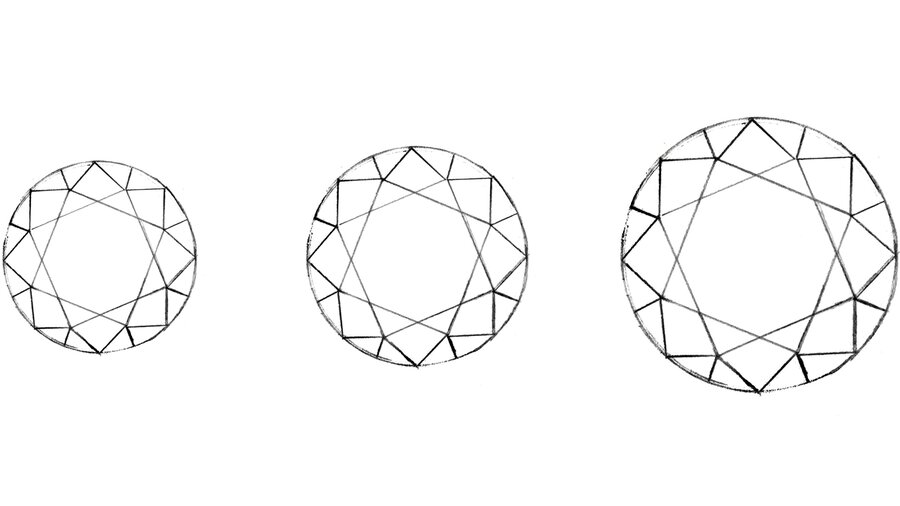 Karat definiert das Gewicht des Diamanten und nicht, wie oft angenommen, die Größe