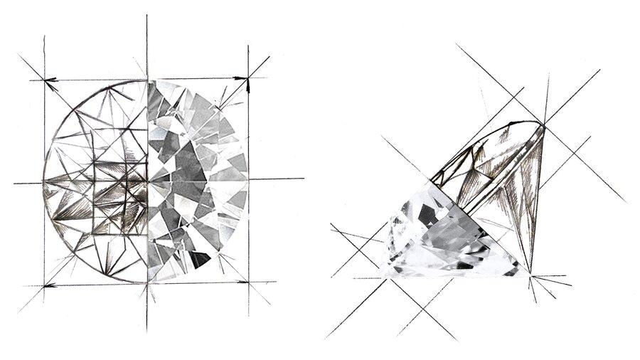Politur & Symmetrie Je höher die Qualität von Politur und Symmetrie, desto höher der Diamantpreis.