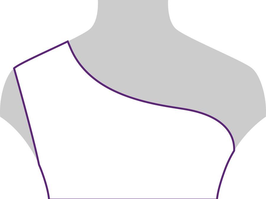 Beispielansicht asymmetrischer Ausschnitt: geeignet für filigrane Ketten