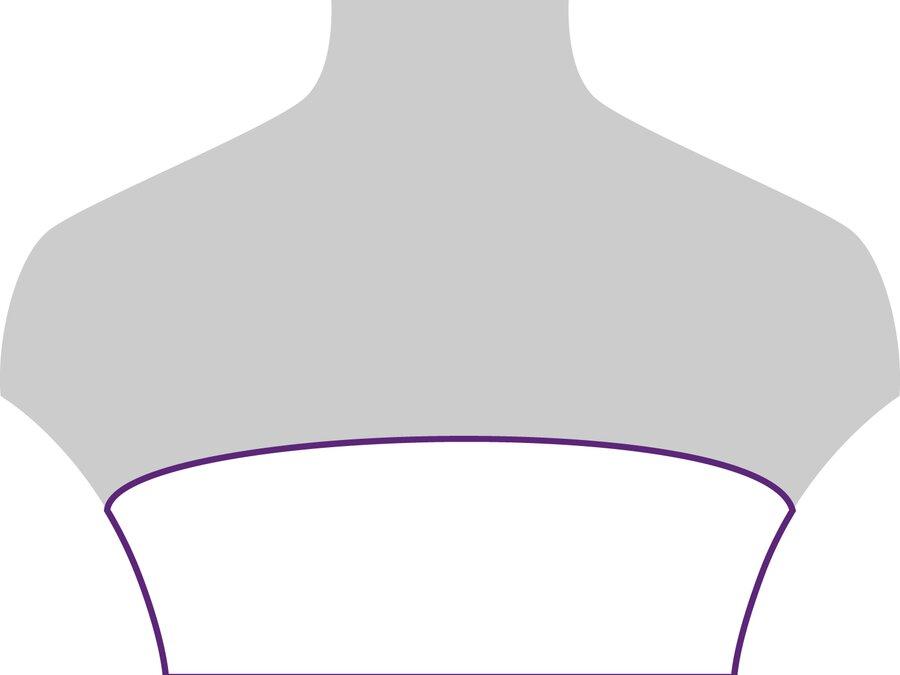 Beispielansicht schulterfreier Ausschnitt: geeignet für schlichte Ketten