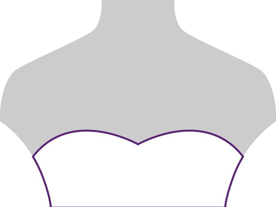 Beispielansicht Herzförmiger Ausschnitt: geeignet für zarte Ketten