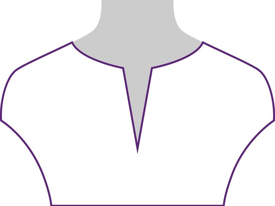 Beispielansicht Blusen Ausschnitt: geeignet für kurze Ketten