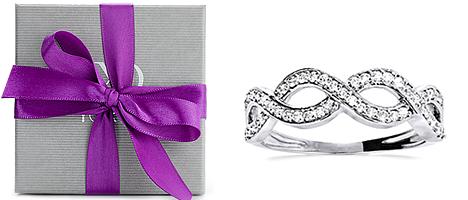Beispielhafte Abbildung Yorxs Geschenkverpackung, Diamantring Conago