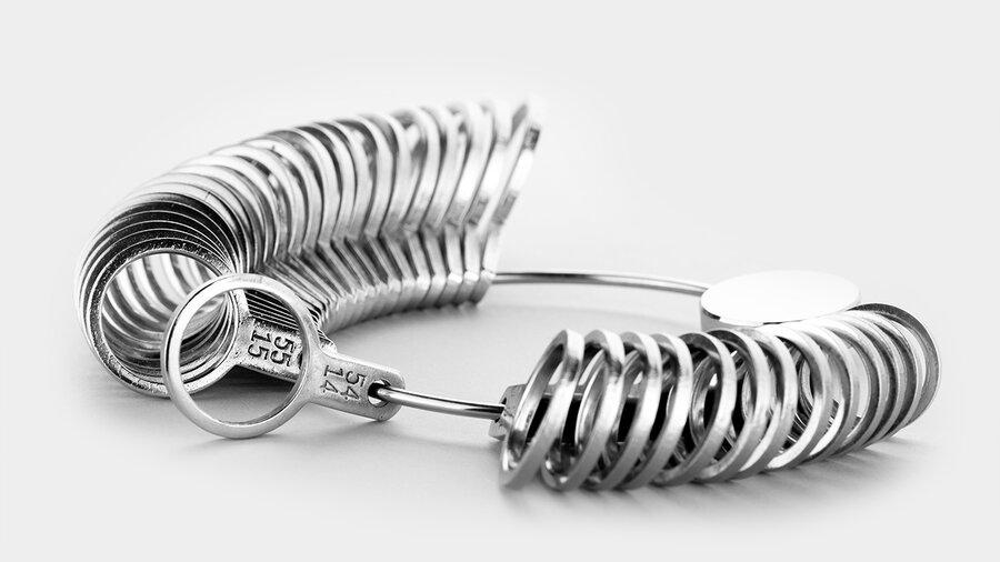 Beispielhafte Abbildung eines Ringgrößenmessers