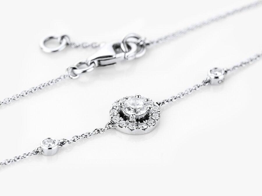 Diamantarmband Belma in Weißgold mit Brillanten