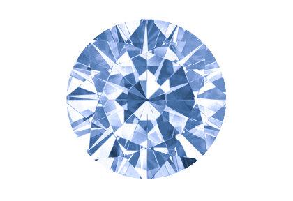 Beispielhafte Abbildung, Blauer Diamant, Vivid