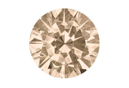 Beispielhafte Ansicht brauner Diamant
