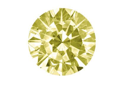 Beispielhafte Ansicht gelber Diamant