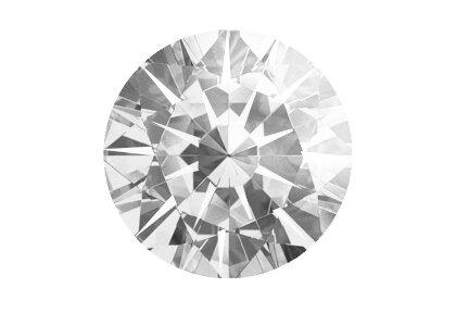 Beispielhafte Ansicht eines grauen Diamanten. Brillant, fancy grey.