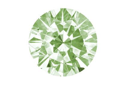 Grüner Diamant beispielhafte Ansicht