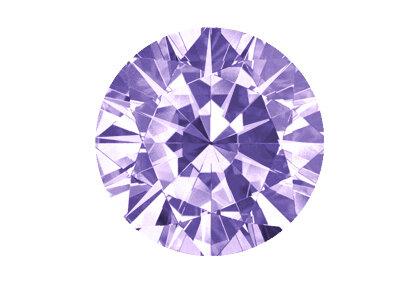 Lila Diamant beispielhafte Ansicht