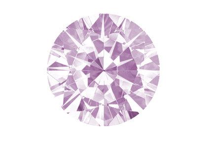 Beispielhafte Abbildung, Pinker Diamant, Faint
