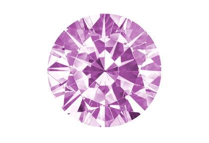 Beispielhafte Ansicht eines pinken Diamanten, Brillant, fancy yellow.