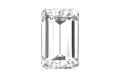 Beispielhafte Ansicht eines Smaragd Diamanten