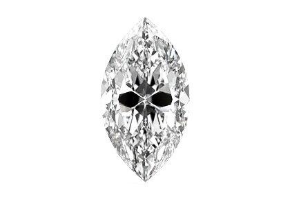Beispielhafte Ansicht eines Navette Diamanten
