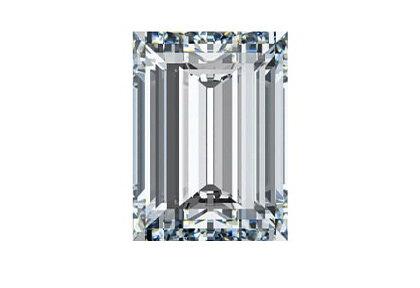 Beispielhafte eines Baguette Diamanten