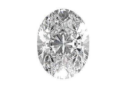 Beispielhafte Ansicht eines ovalen Diamanten