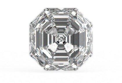 Beispielhafte Ansicht eines Asscher Diamanten