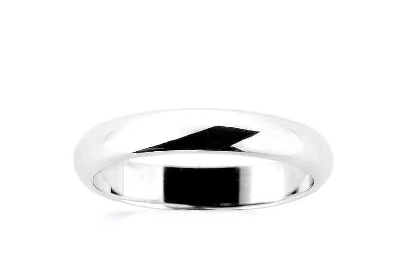 Klassischer Ehering für Damen ohne Diamant in Weißgold, poliert