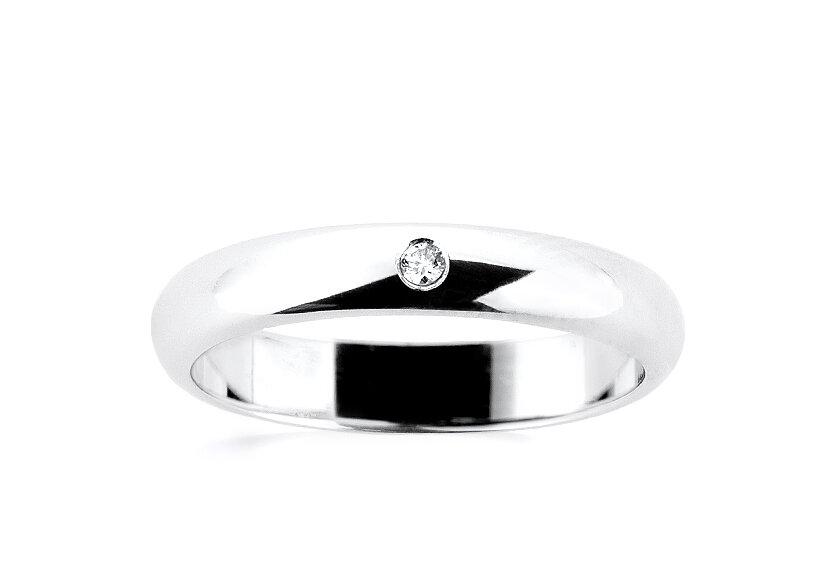 Eheringe für Damen: Ehering mit Diamant