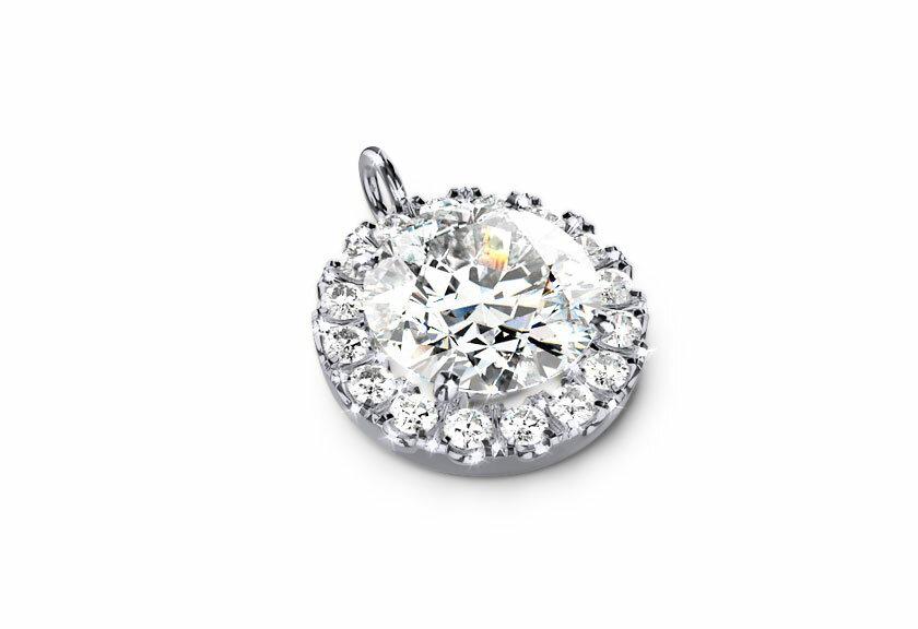Diamantanhänger Akzela in Weißgold mit einem Brillanten