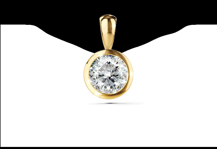 Diamantanhänger Palilia in Gelbgold mit einem Brillanten