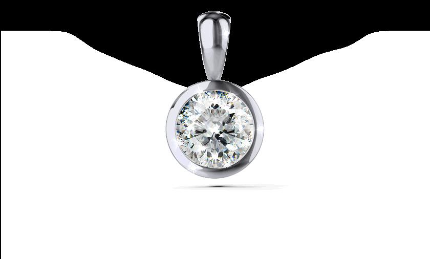 Diamantanhänger Palilia in Platin mit einem Brillanten