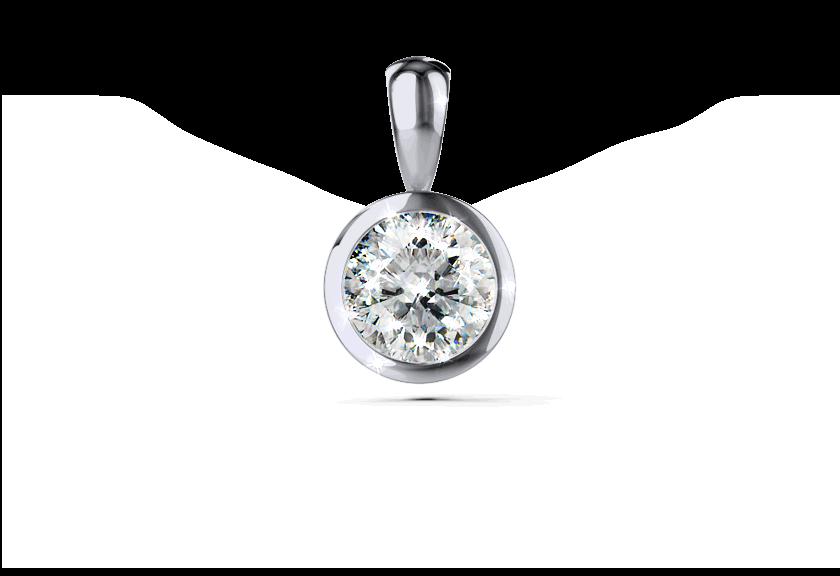 Diamantanhänger Palilia in Weißgold mit einem Brillanten
