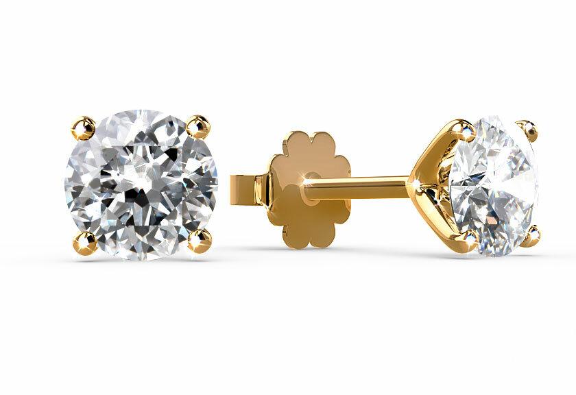 Diamantohrstecker Carici in Gelbgold