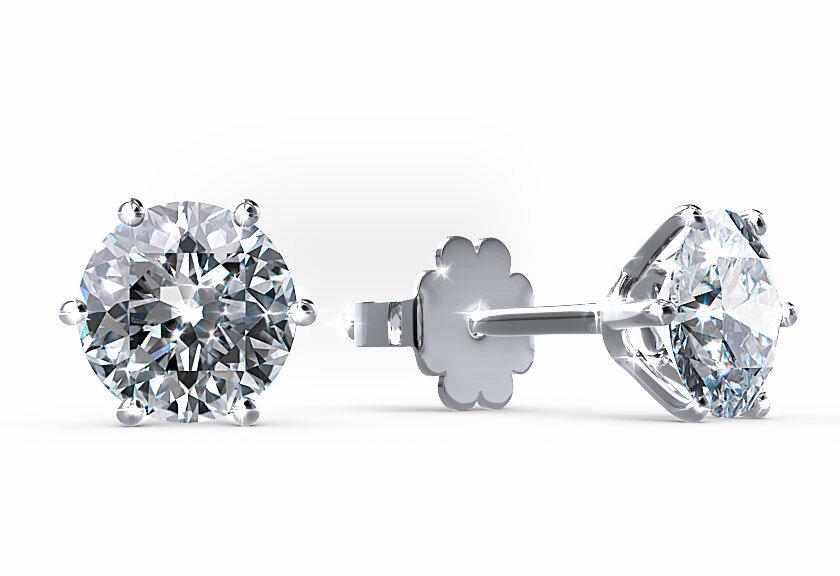 Diamantohrringe Magali in Platin mit jeweils einem Brillanten