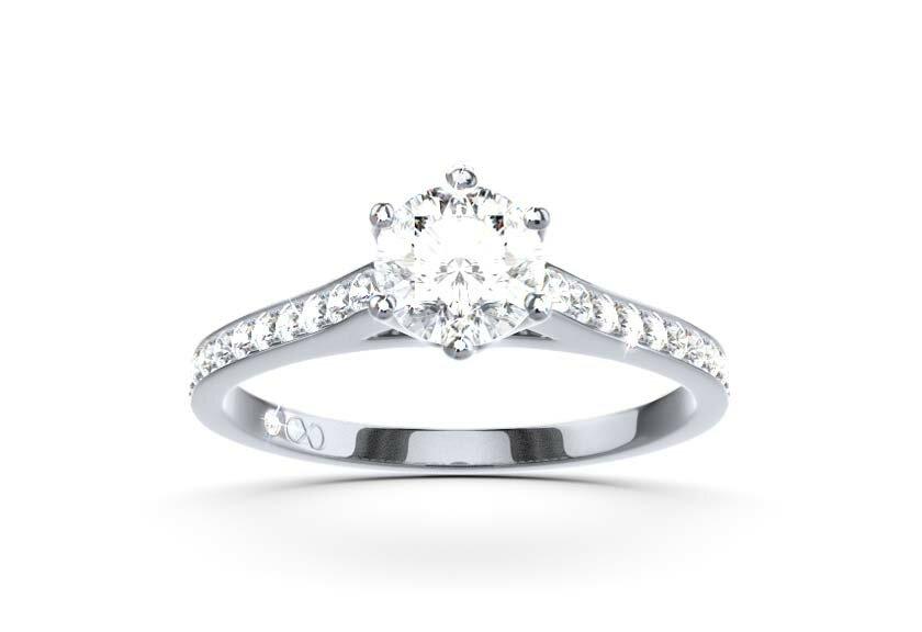 Klassische Verlobungsringe: Paveering