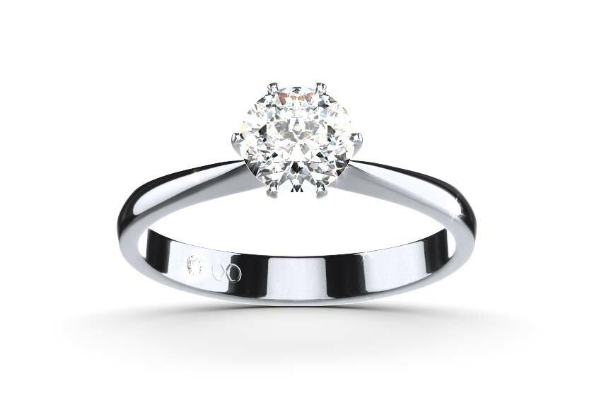 Verlobungsring Flora: Solitär Ring in Platin mit einem Brillanten
