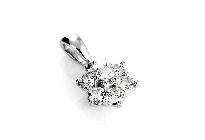 Diamantanhänger Fiora, 750er Weißgold mit Diamanten