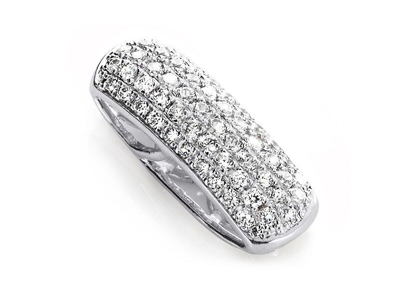 Mehrstein Anhänger Talto in Weißgold, besetzt mit vielen kleinen Diamanten
