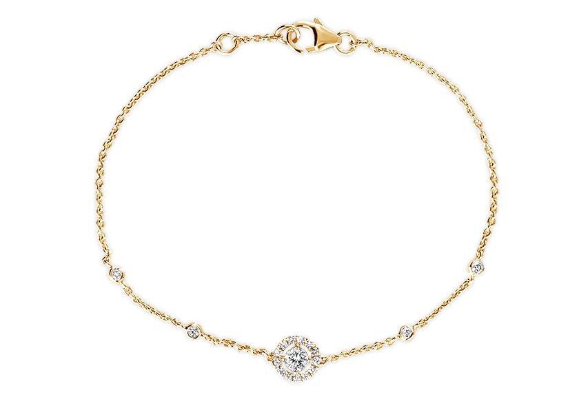 Diamantarmband Bellma in 750er Gelbgold mit Diamanten