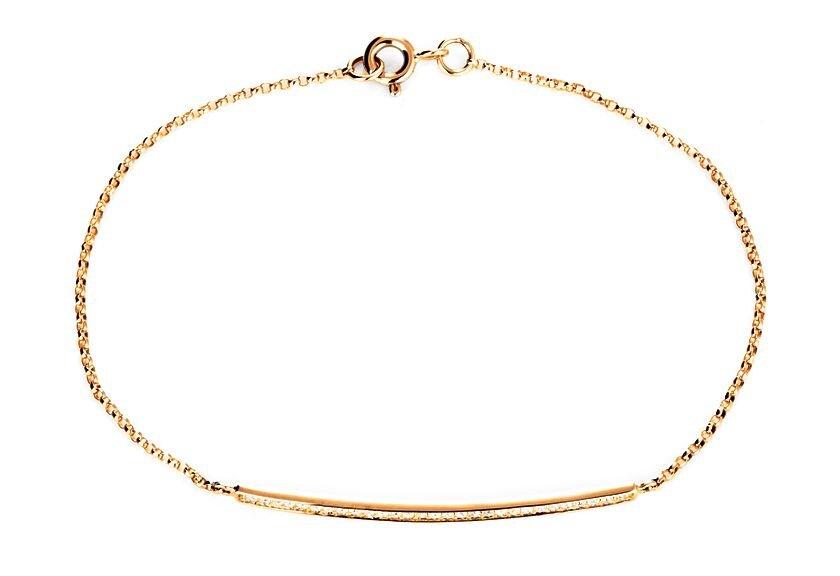 Armband Diamantsteg in Gelbgold