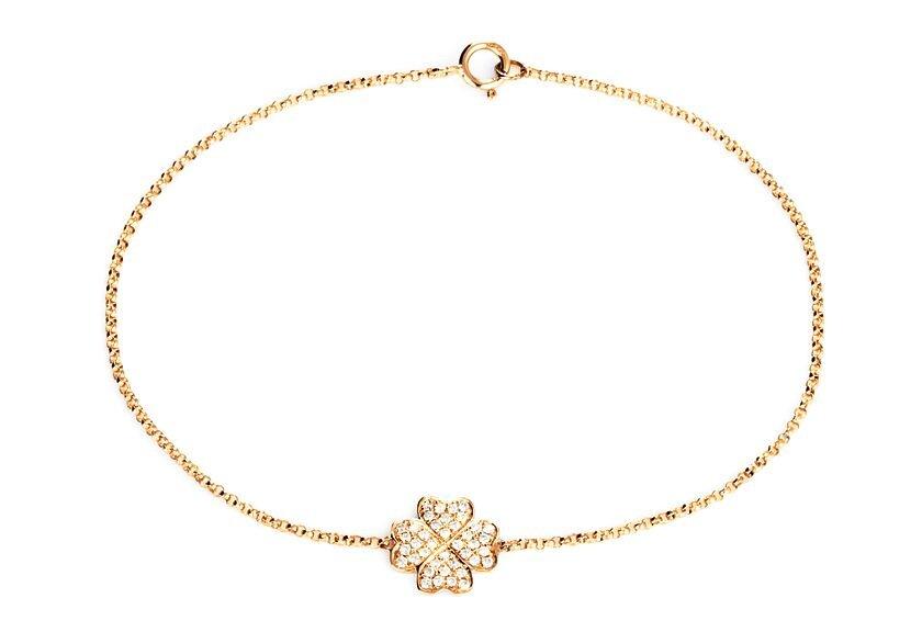 Diamantarmband in 750er Gelbgold mit Diamanten