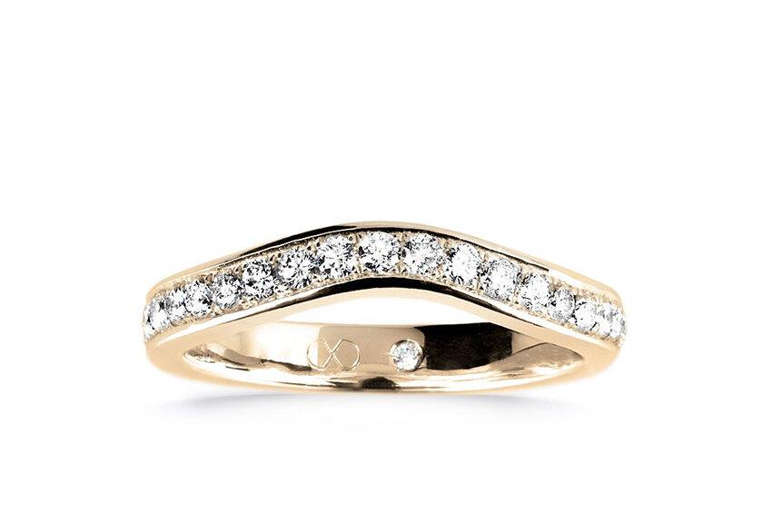 Diamantbesetzter Vorsteckring Colis in Gelbgold