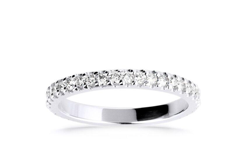 Eternity Ring Laetitita in Weißgold als Ehering für Damen