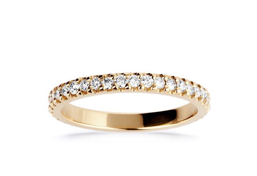 Eternity Ring Laetitia in Gelbgold als Ehering für Damen